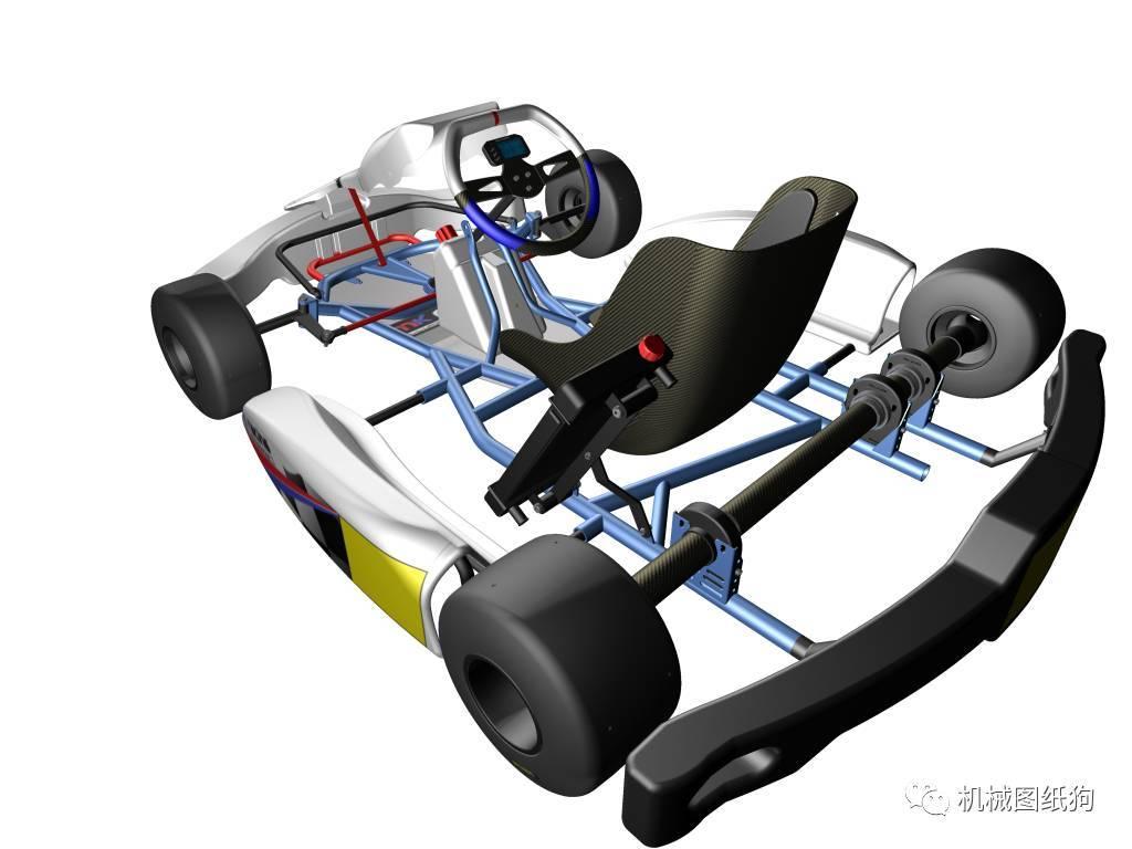 微型设计卡丁车竞赛高度IGSSTP格式内容足CAD图纸字体图纸实况图片
